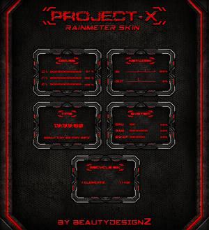 Project-X Rainmeter Skin - By BeautyDesignZ