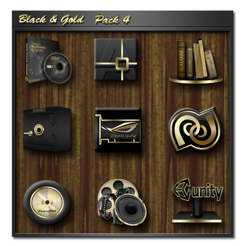 Black and Gold Pack 4 by icebabee