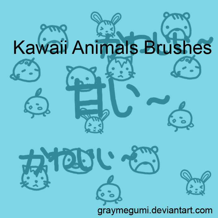 Kawaii Animals Brushes by GrayMegumi