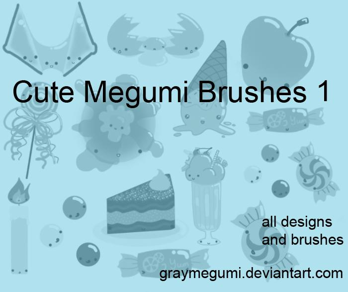Cute Megumi Brush Set 1
