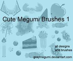 Cute Megumi Brush Set 1 by GrayMegumi