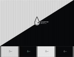 Rainmeter B-W Wallpaper by FaradeyUA