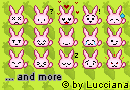 pink bunny emoticons by oOLuccianaOo
