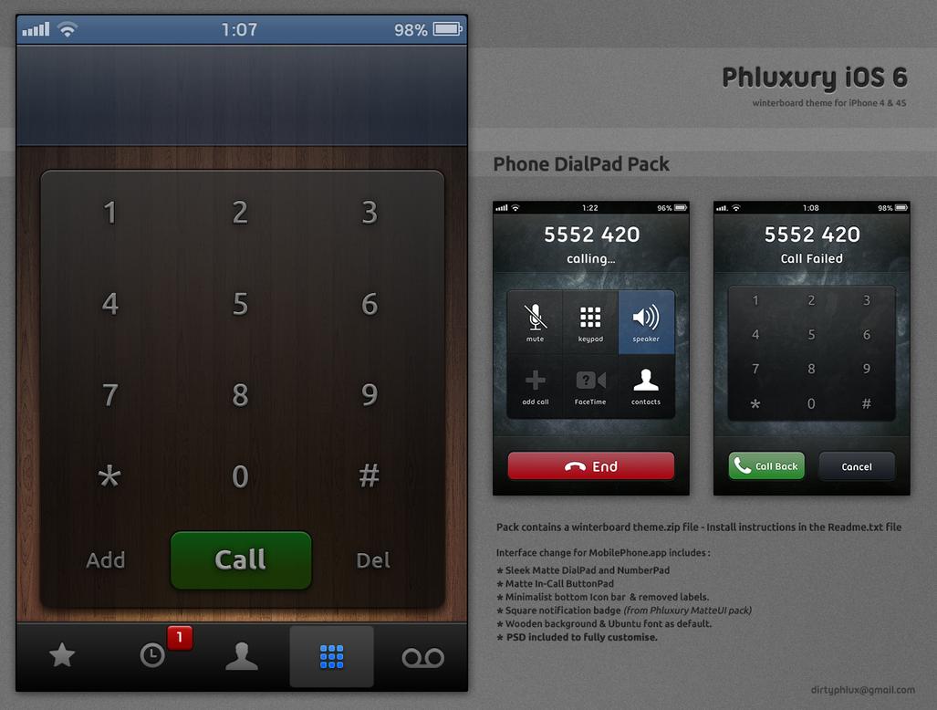 Phluxury Dialer [ iOS 6.1 - iPhone 4/4S ] by dirtysnachez