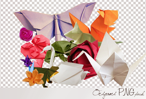 Origami PNG pack by Sara876