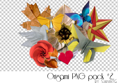 Origami PNG Pack 2 By Sara876