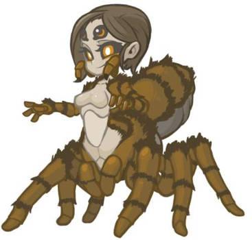 MonsterGirl_012 Jumping Arachne by MuHut