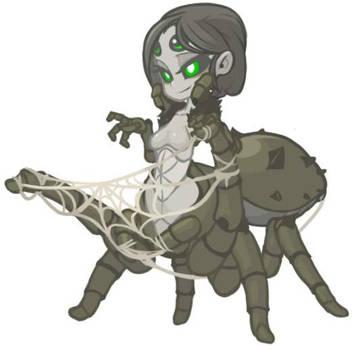 MonsterGirl_013 Cobweb Arachne by MuHut
