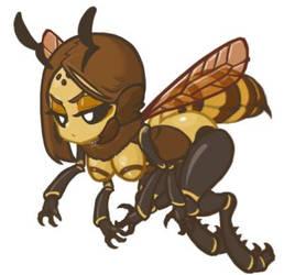 MonsterGirl_014 Honeybee (Soldier) by MuHut