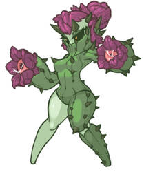 MonsterGirl_051 Cactus by MuHut