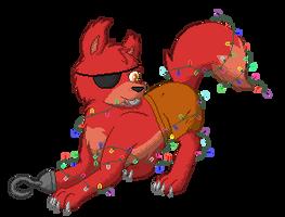Gif - Christmas Foxy by XK1RARAX