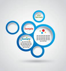 vector blue Circle Design