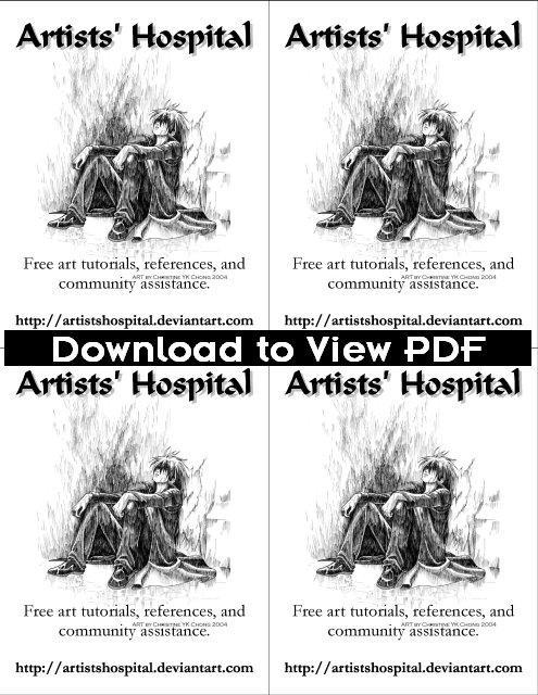 BnW Quarter Page 4 Up Flyer by ArtistsHospital on DeviantArt