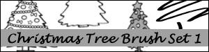 Christmas Tree Brush Set 1