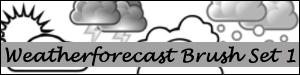 Weather Forecast Brush Set 1
