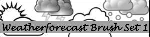 Weather Forecast Brush Set 1