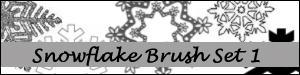 Snowflake brush set 1