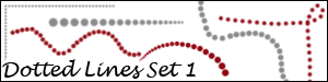 Dotted Lines Brush Set 1 by Duckie16