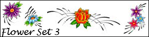 Flower Brush Set 3 by Duckie16