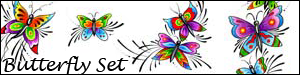 Butterfly Brush Set 1 by Duckie16