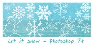 Let it snow - Photoshop 7+