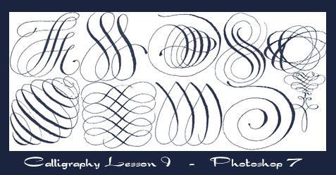 Photoshop Calligraphy Brushes