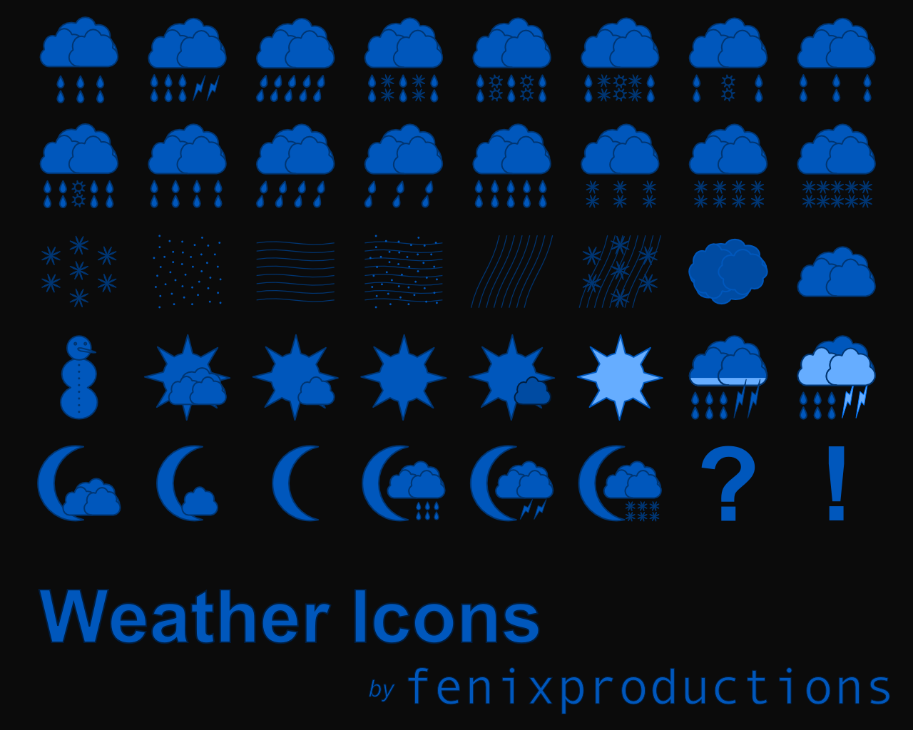 Weather Icons by fenixproductions