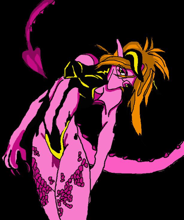Sexy girl and dragon