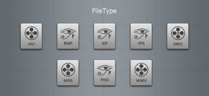 Grey File Type Icons
