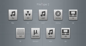 Grey File Type Icons 2 by blymar