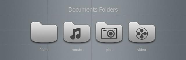 Grey Documents Folders by blymar