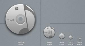 Grey iTunes Icon