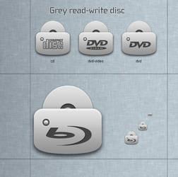 Grey read-write disc by blymar