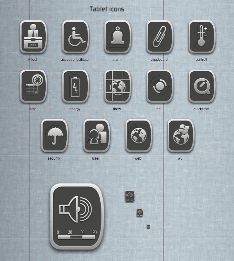 Tablet icons by blymar