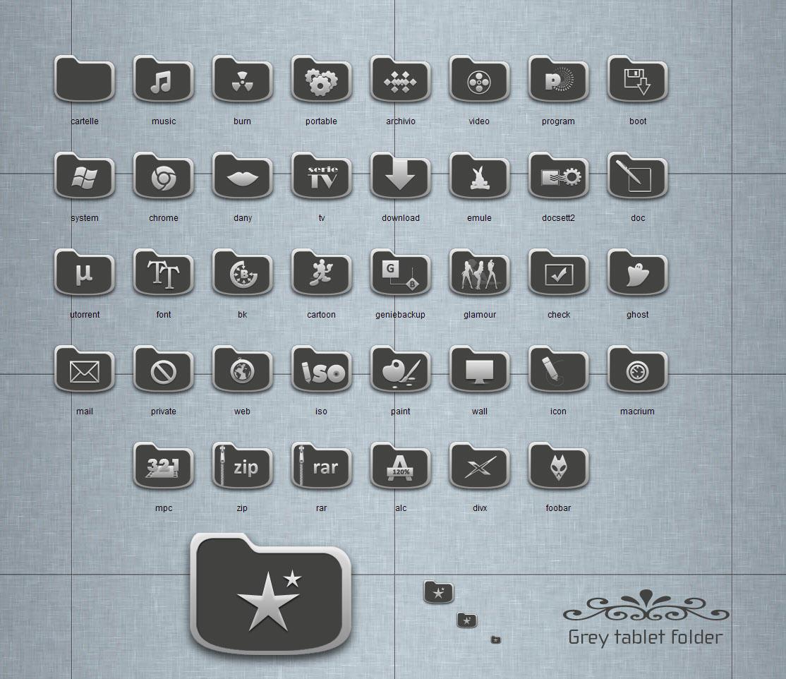 Grey tablet Folder by blymar