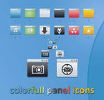 Colorfull panel icons