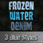 3 Blue Styles for Photoshop