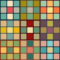 Retro Cubes Pattern Set by mia77