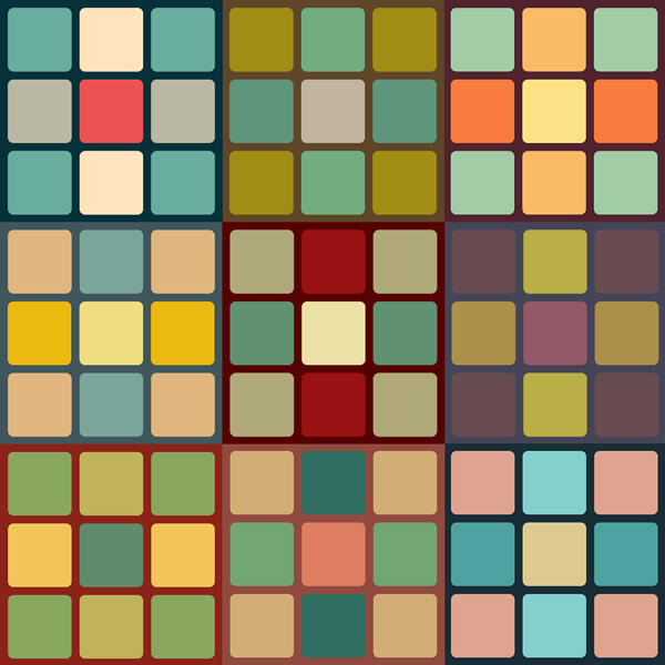 Retro Cubes Pattern Set by mia77