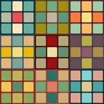Retro Cubes Pattern Set