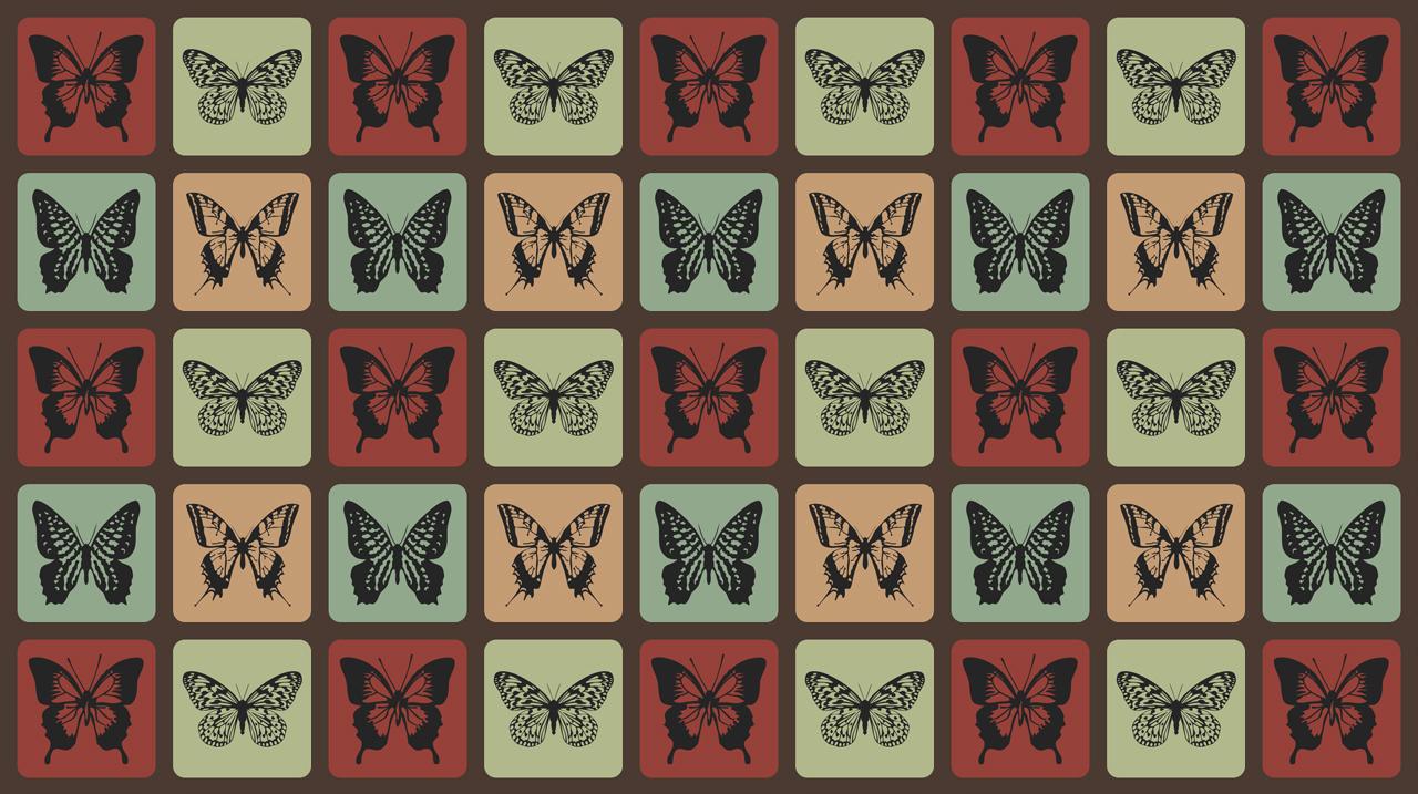 Retro Butterflies Pattern