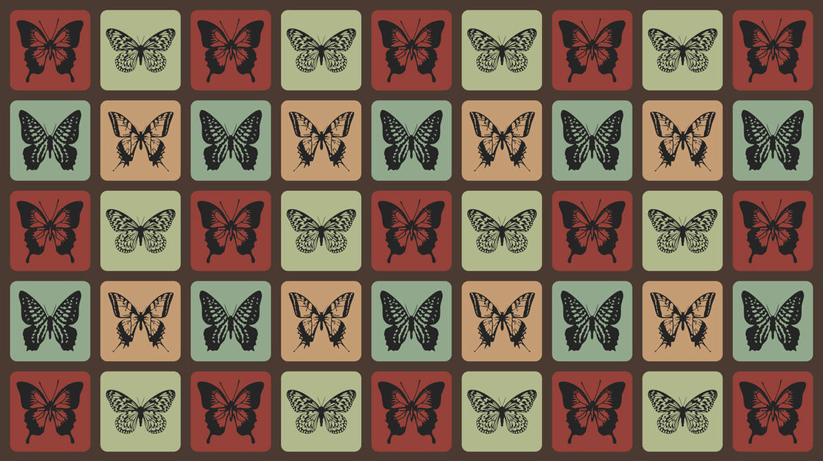 Retro Butterflies Pattern by mia77