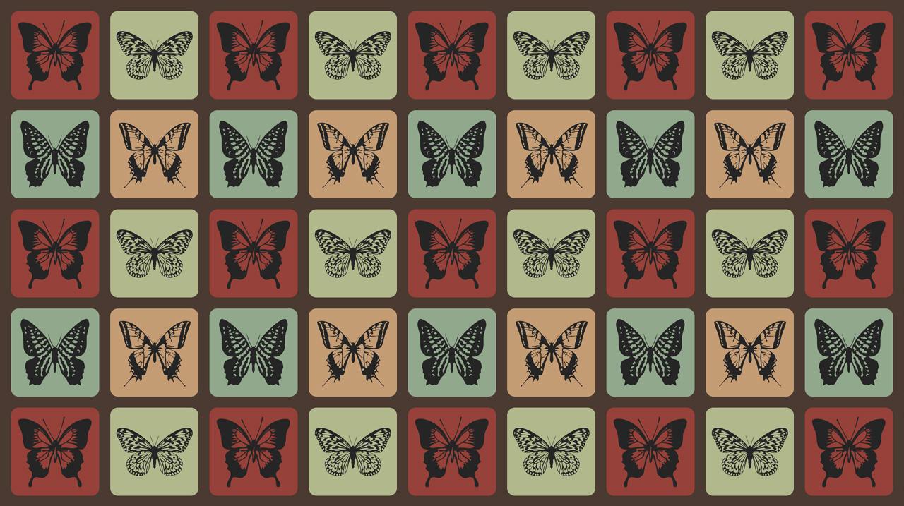 Retro Butterflies Pattern by mia77
