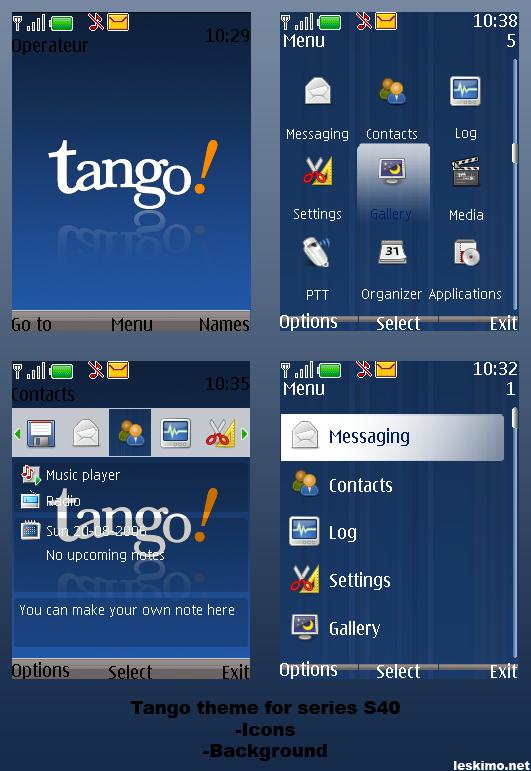 Tango theme nokia S40 by leskimo