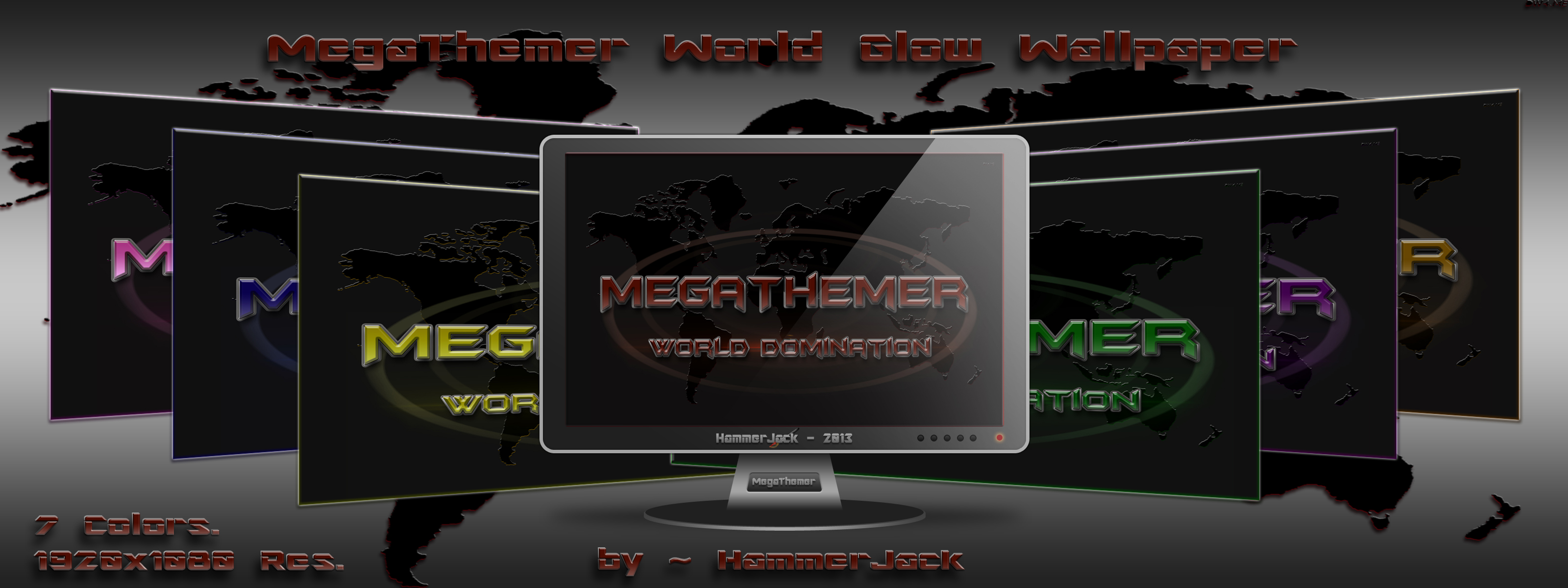 MegaThemer World Glow Wallpaper by ~ HammerJack... by mTnHJ
