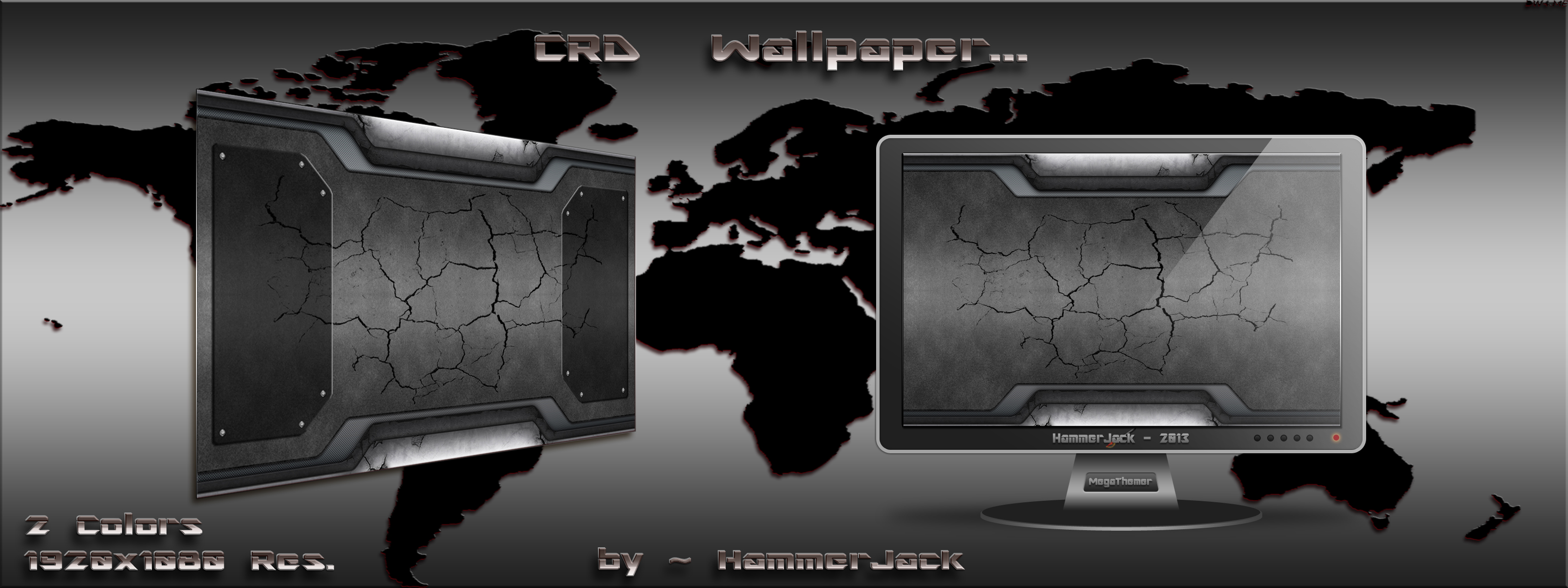 CRD (Cracked Rusty Dark) Wallpaper by mTnHJ