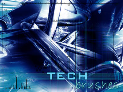 Tech Brushes v1 by WooGyou