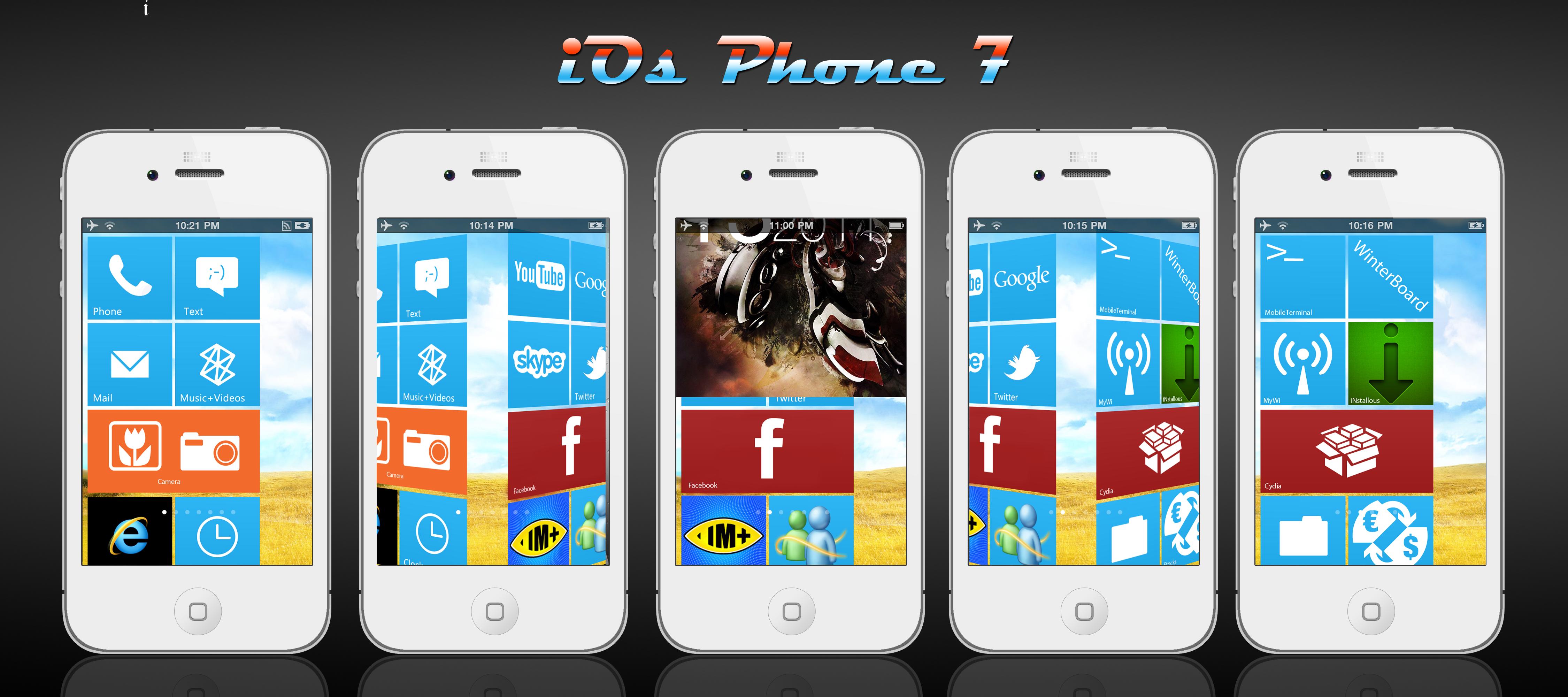 iOS Phone 7 HD by Shapi300