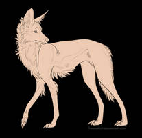 Maned Wolf lineart FREE