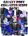 MLP - Galaxy Pony My Computer Icon Pack